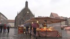Nuremberg Market Stock Footage