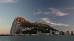 Gibraltar rock timelapse 4k Stock Footage