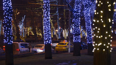 Christmas/New year time in the city Stock Footage