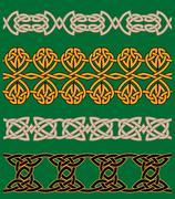 Celtic embellishments and ornaments Stock Illustration