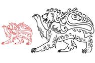 Stock Illustration of vintage royal lion