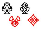 Stock Illustration of poker card symbols in celtic style