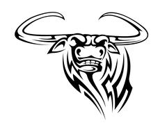 Buffalo mascot Stock Illustration