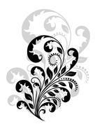 Vintage floral embellishment Stock Illustration