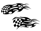Stock Illustration of racing tattoos