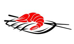 shrimp seafood - stock illustration