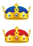Stock Illustration of king crown with gems and embellishments