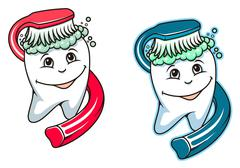 Toothbrush and dental paste Stock Illustration
