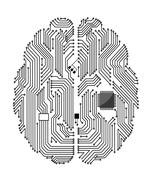 Motherboard brain Stock Illustration