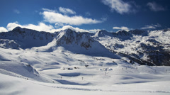 4K Mountain ski resort Grau Roig, Pas de la Casa, Andorra, time-lapse. - stock footage