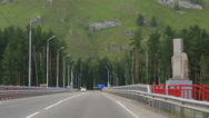 Stock Video Footage of new bridge aysky over the river katun. altai krai. russia.