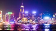 Stock Video Footage of Hyperlapse video of Hong Kong from day to night