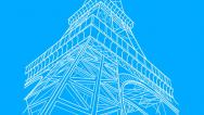 Stock Video Footage of Eiffel Tower Drawing (HD)
