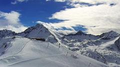 Mountain ski resort Soldeu, Andorra, time-lapse. Stock Footage
