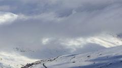 Mountain ski resort Stock Footage