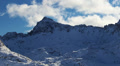 Winter mountain landscape. Time-lapse.  Footage