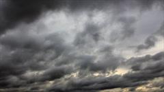 Darkening clouds overcast sky Stock Footage