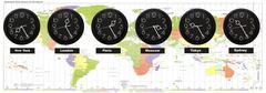 time zones - stock photo
