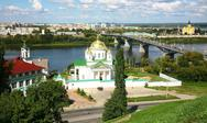 Stock Photo of summer annunciation monastery and nevsky cathedral nizhny novgorod