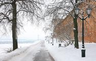 Stock Photo of winter alley in the kremlin nizhny novgorod russia