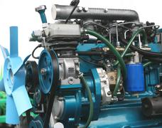 diesel engine - stock photo