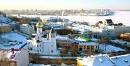 Stock Photo of panoramic january view of nizhny novgorod russia