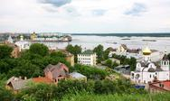 Stock Photo of panoramic june summer view of nizhny novgorod russia