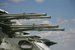 anti-aircraft - stock photo