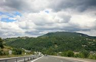 Stock Photo of scenic road in france in summer trip
