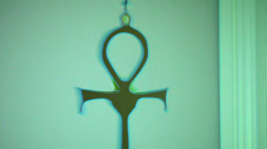 Ankh ank egyptian symbol Stock Footage