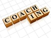 Stock Illustration of coaching in golden cubes