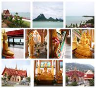 collage of beautiful thailand - stock illustration