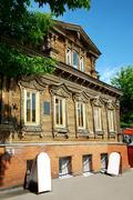 Example of 19th-century wooden buildings nizhny novgorod russia Stock Photos