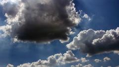 Shiny clouds sky Stock Footage