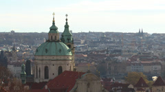 Prague Church Dome Stock Footage