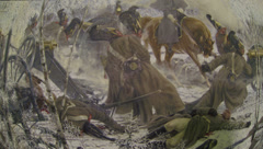 Picture of the battle of Russian and French 2.7K Stock Footage