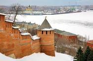 Stock Photo of march view nizhny novgorod kremlin russia