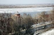 Stock Photo of nizhny novgorod: river volga and kremlin