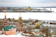 Stock Photo of march snow view nizhny novgorod russia