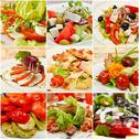Stock Illustration of Collage with meals