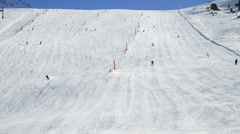 Mountain ski resort Grau Roig, Andorra. Stock Footage