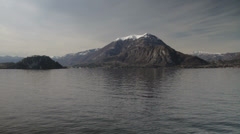 Lake Como looking across to mountains Stock Footage