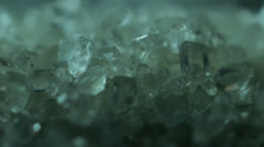 Sugar crystals macro Stock Footage