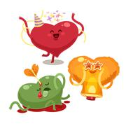 Valentines hearts Stock Illustration