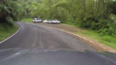 Drive El Yunque National Park POV 3 HD 0236 Stock Footage