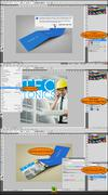 Square Trifold Mockup PSD Template