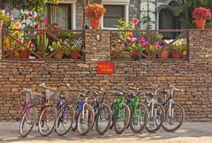 Bicycles for Rent - stock photo