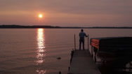 Stock Video Footage of Fishing at sunset