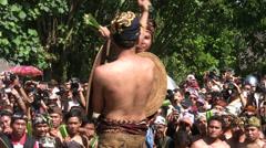 Mekare-kare ceremony, Tenganan, Bali, 26 June 2013 Stock Footage