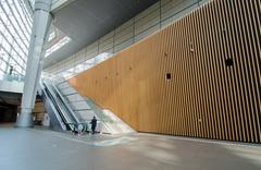 Stock Photo of futuristic architecture, interior of tokyo international forum
